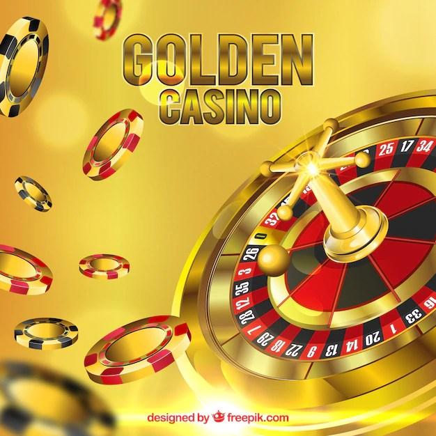 golden casino background vector
