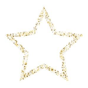 Premium Vector | Golden star vector banner on white background. gold  glitter star