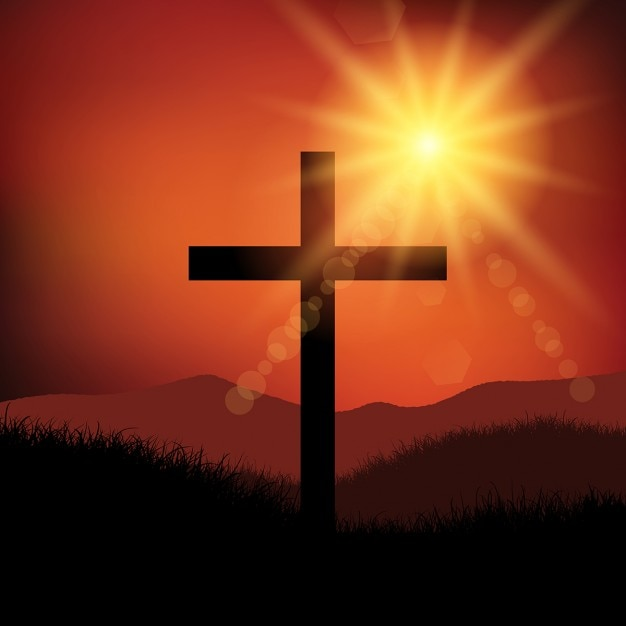Good Friday Easter Landscape With Cross Vector  Free Download