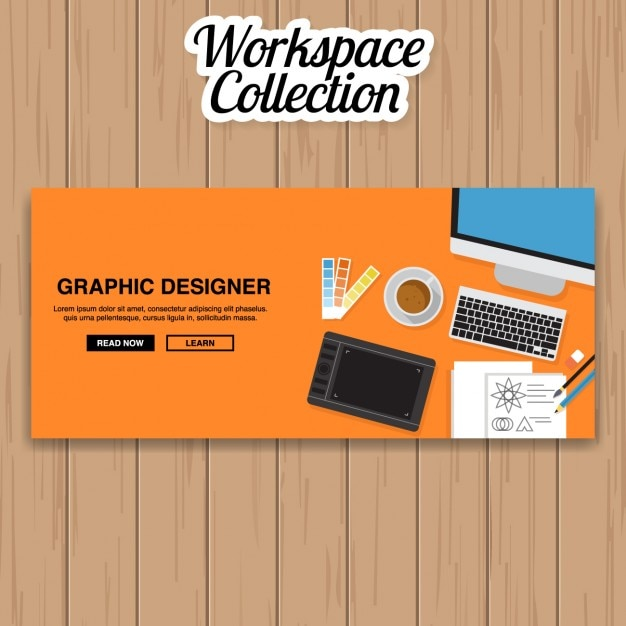 Graphic designer banner design Vector  Free Download
