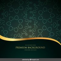 Green and gold ornamental background Vector | Free Download