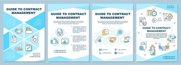 Both sets of responsibilities may even fall on the shoulders of the same person, especially in a small business. Premium Vector Guide To Contract Management Brochure Template Business Process Flyer Booklet Leaflet Print Cover Design With Linear Icons Layouts For Magazines Annual Reports Advertising Posters