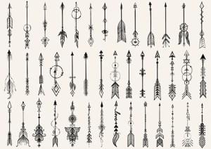 arrow drawn hand vector