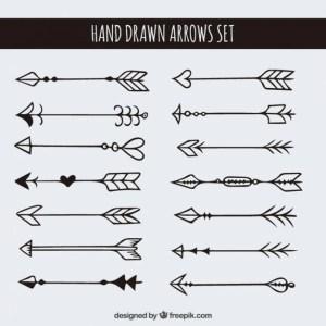 arrows drawn hand vector tattoo arrow tattoos drawing freepik flechas doodle clipart tatuajes 1000 draw pretty easy icons clip dibujos