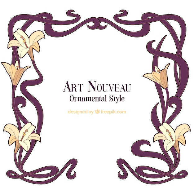 Art Nouveau Ornament Free Vectors