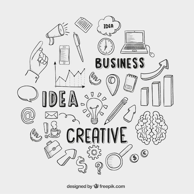 Free Vector Hand Drawn Business Icons