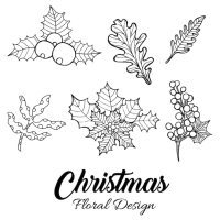 Hand Drawn Christmas Floral Designs Vector   Free Download