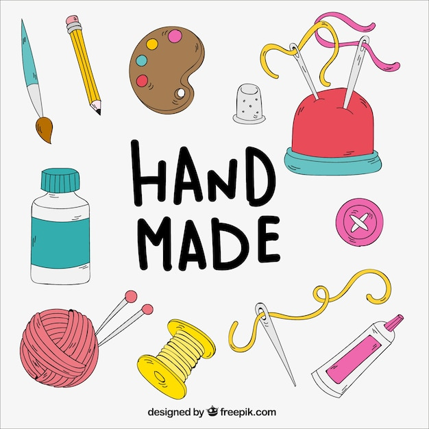 Free Vector Hand Drawn Craft Elements
