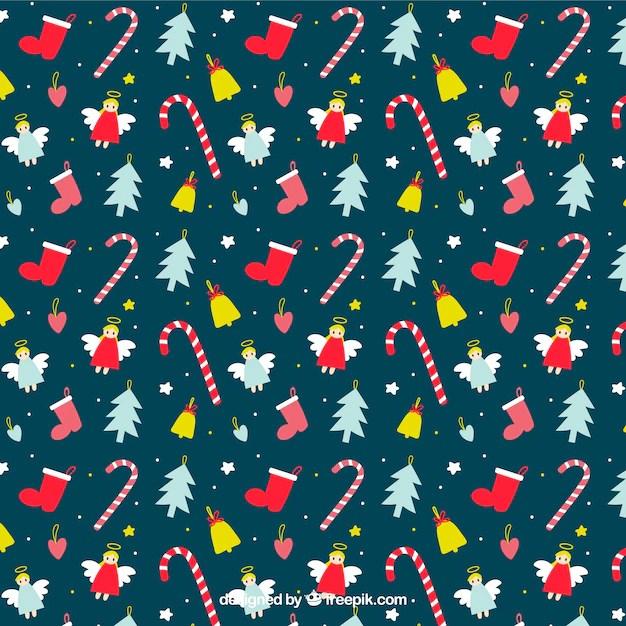 Cute Gingerbread Wallpaper Hand Drawn Cute Christmas Pattern Vector Free Download