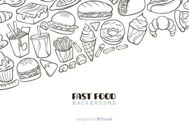 Free Vector Hand drawn fast food background