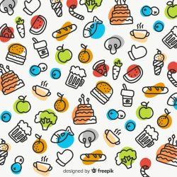 Free Vector Hand drawn food background