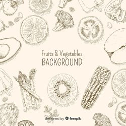 Free Vector Hand drawn healthy food background
