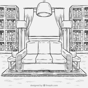 living hand furniture drawn background vector freepik