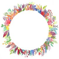 Hand painted frame design Vector   Free Download