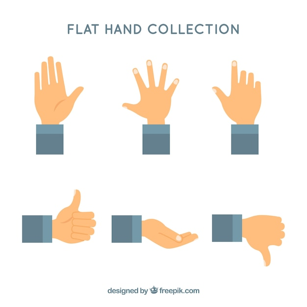hands collection with different