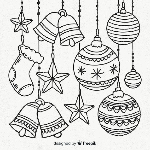Free Vector Hanging Christmas Decoration