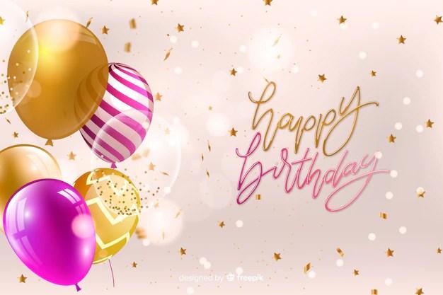 Spanish feliz cumpleanos, happy birthday, bright m…. Free Vector | Happy birthday card with balloons