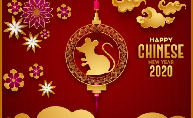 Happy Chinese New Year 2020 Celebration Greeting Card With