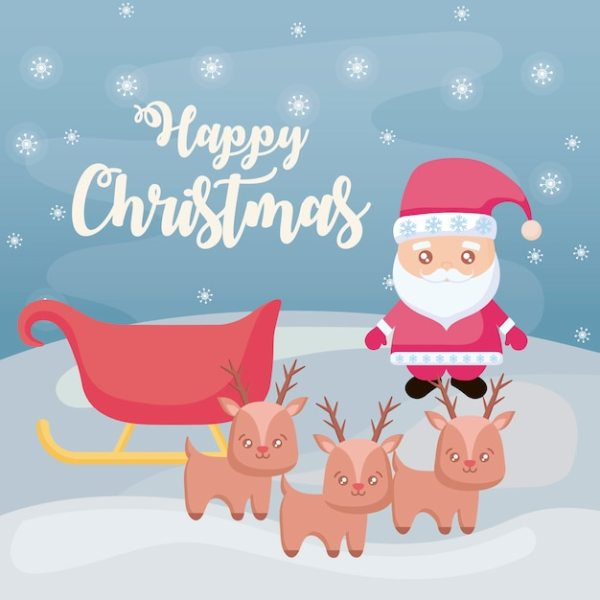 happy christmas with santa claus