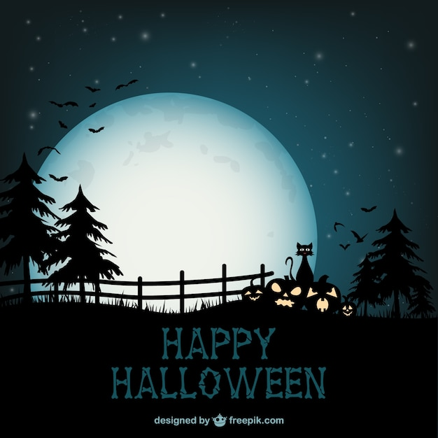 Fall Graveyard Cemetery Wallpaper Happy Halloween Background Vector Free Download