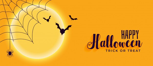 happy halloween banner with