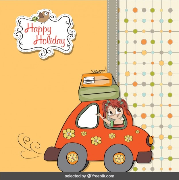 Happy Holiday Card Vector Free Download