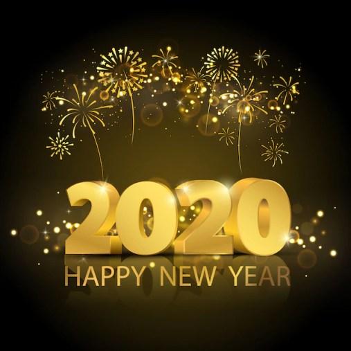 Happy new year 2020 background. | Premium Vector