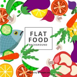 Free Vector Healthy food background with flat design
