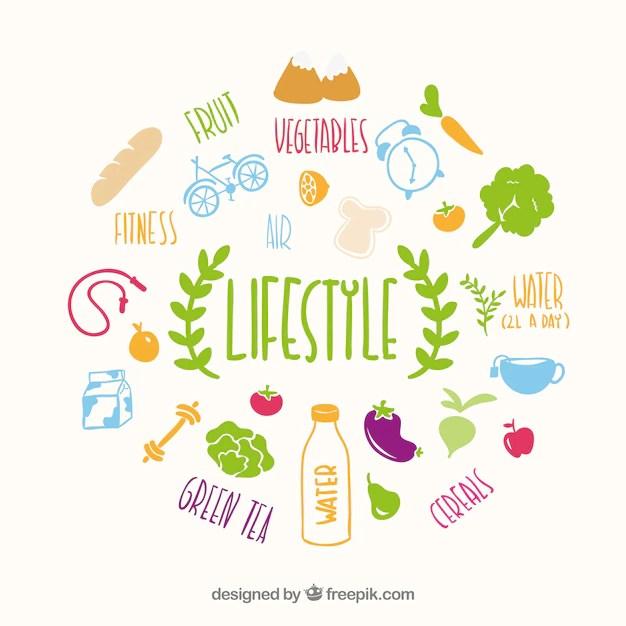Healthy Lifestyle Vector Vector  Free Download