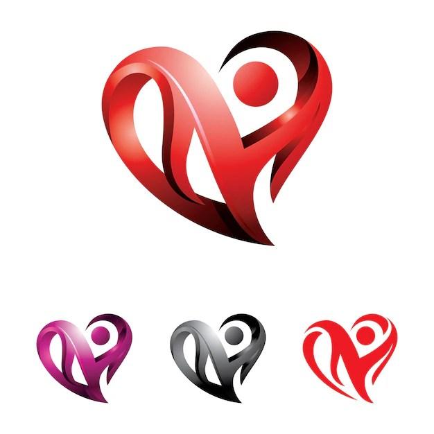 heart abstract 3d love