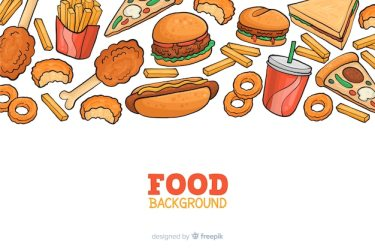 Free Vector Hnad drawn fast food background