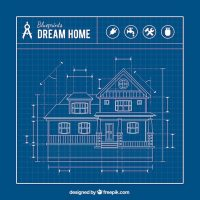 House blueprint Vector | Free Download