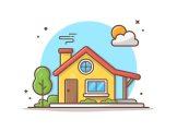 Premium Vector | House building vector icon illustration