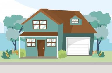Premium Vector House home cartoon illustration
