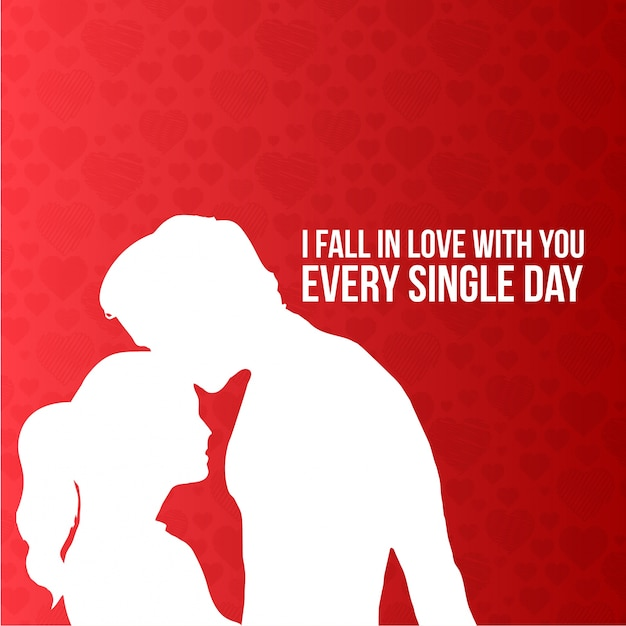 I fall in love with you every single day typographic card