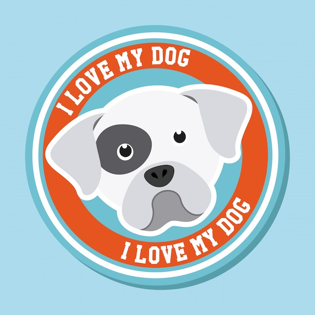 Download I love my dog graphic design Vector | Free Download
