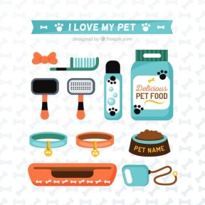I love my pet elements Free Vector