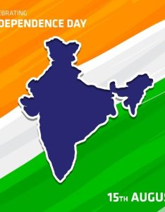 Independence day of india  map on flag free vector also download rh freepik
