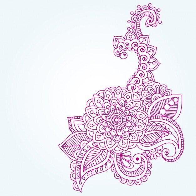 Gambar Ornamen Henna