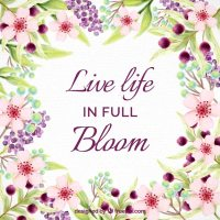 Inspirational life quote with watercolor flowers Vector ...