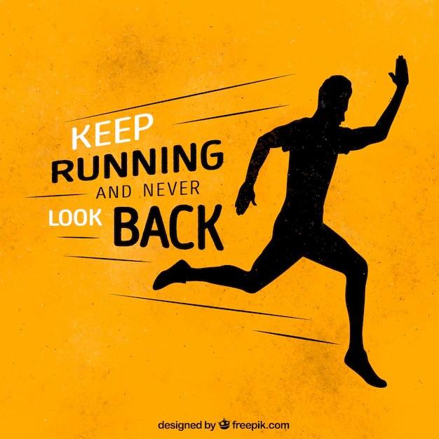 inspiring message keep running