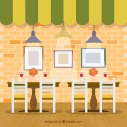 restaurant vector interior flat ai edit ago years