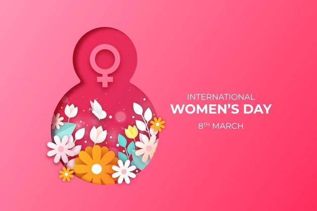 International women day background Free Vector