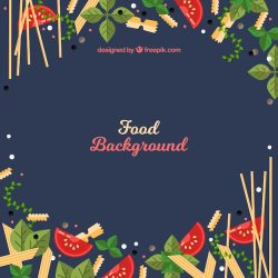 Free Vector Italian food background with flat design