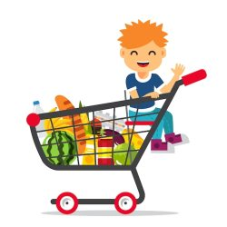 shopping supermarket cart sitting kid vector freepik link