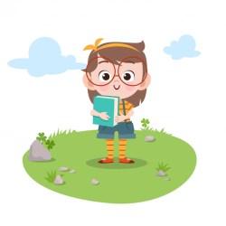 Premium Vector Kids study book vector illustration