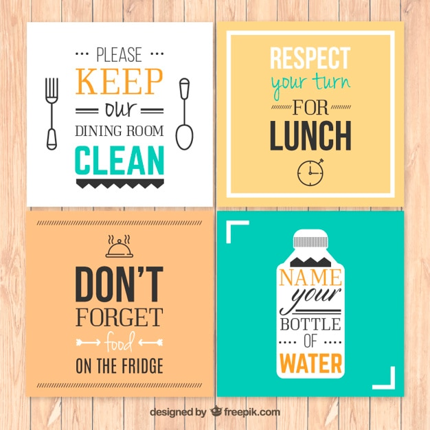 Kitchen Rules Posters Vector  Free Download
