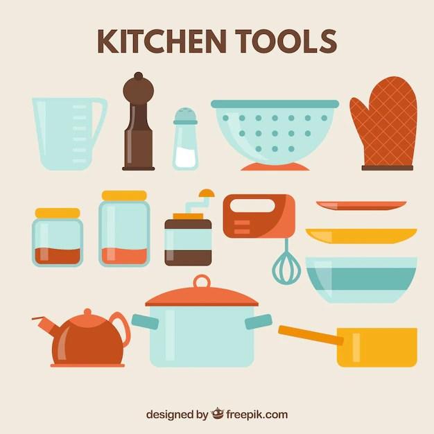 Kitchen Tools Icon Set Vector