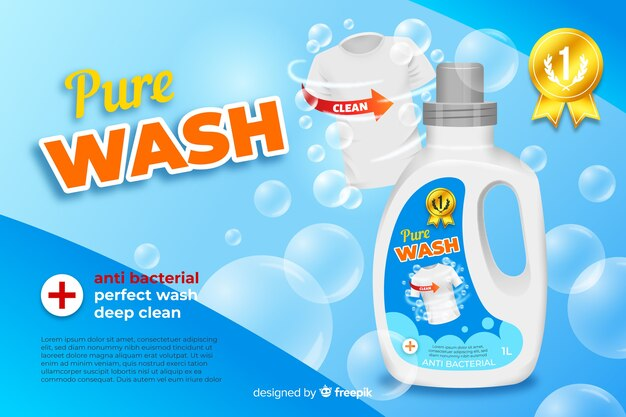 laundry detergent sale realistic