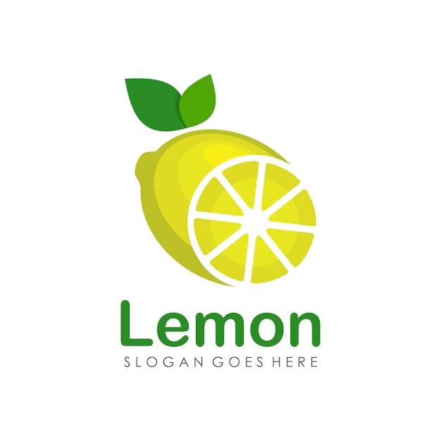 lemon fruit logo design
